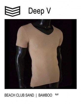 Onzichtbaar ondershirt onder een overhemd van bamboe