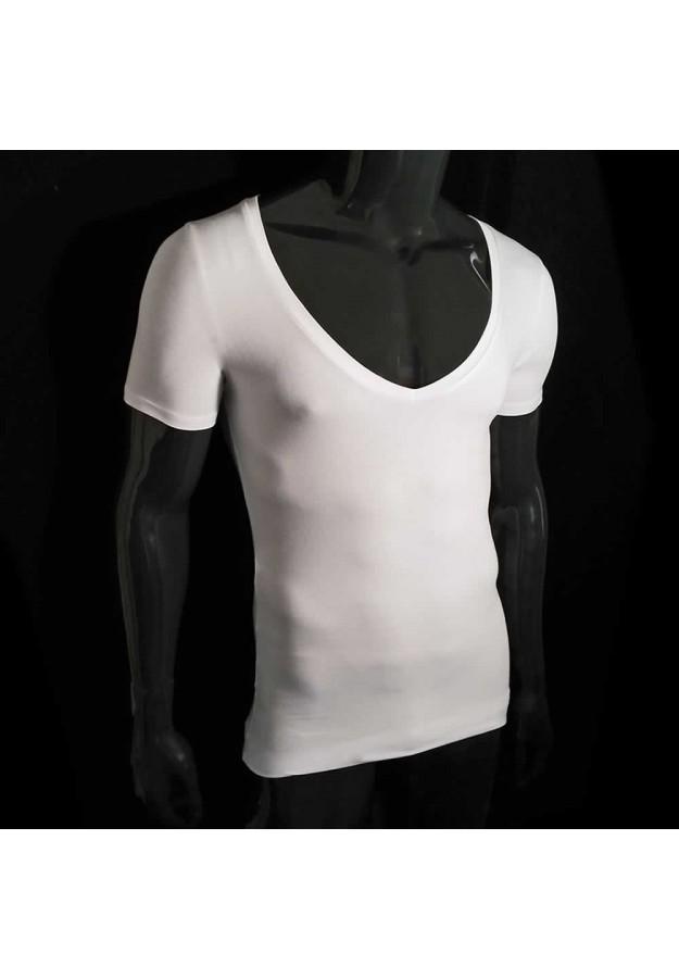f7992ab1 ... Het ideale shirt onder je overhemd - Extra diepe V Hals